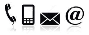 le-icone-nere-del-contatto-hanno-impostato-il-mobile-il-telefono-il-email-en-26124868